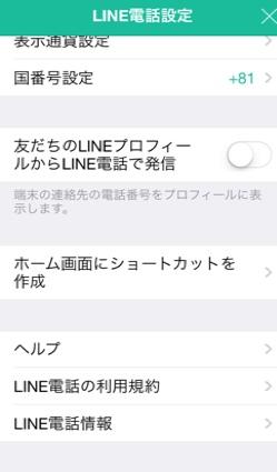 LINE電話のアイコン
